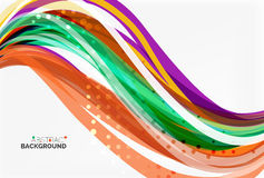 Vector geometric flowing lines abstract background. Vector template background for workflow layout, diagram, number options or web design Stock Images