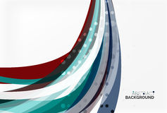 Vector geometric flowing lines abstract background. Vector template background for workflow layout, diagram, number options or web design Stock Image