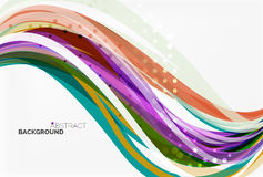 Vector geometric flowing lines abstract background Royalty Free Stock Photo