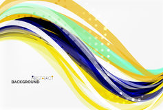 Vector geometric flowing lines abstract background. Vector template background for workflow layout, diagram, number options or web design Royalty Free Stock Image