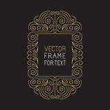 Vector geometric frame with copy space Stock Photos