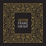 Vector geometric frame with copy space Royalty Free Stock Photo