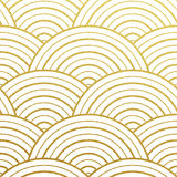 Vector geometric gold pattern Royalty Free Stock Photography