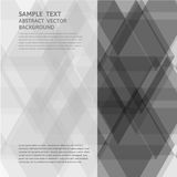 Vector geometric gray triangle abstract background with copy space Stock Images