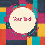 Vector geometric greeting card Stock Photos
