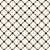 Vector geometric grid seamless pattern, diagonal square mesh. Royalty Free Stock Image