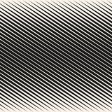 Vector geometric halftone diagonal lines seamless pattern. Stylish design for decor. Vector geometric halftone diagonal stripes seamless pattern. Black and white Royalty Free Stock Images