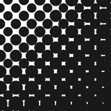 Vector geometric diagonal halftone seamless pattern with circles. Vector geometric halftone pattern with big circles, dots. Monochrome seamless texture. Abstract Royalty Free Stock Photo