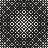Vector geometric halftone pattern with round shapes, circles. Stock Image