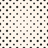 Vector geometric halftone seamless pattern with circles, dots. Stock Images