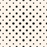 Vector geometric halftone seamless pattern with circles. stock illustration
