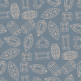 Vector geometric hand drawn seamless pattern of of faceted stone Royalty Free Stock Image
