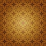 Vector Geometric Islamic Art. Seamless Geometric Islamic Art Pattern stock illustration