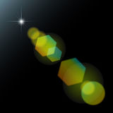 Vector geometric lens flare bokeh Royalty Free Stock Photography