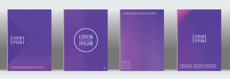Vector geometric line pattern for poster design. Minimal cover. Vector purple geometric abstract line pattern for poster design. Set of minimal covers for vector illustration