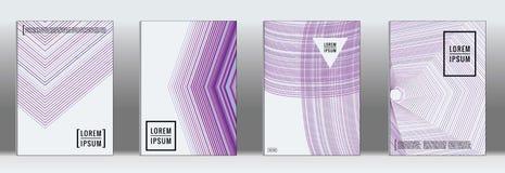 Vector geometric line pattern for poster design. stock illustration