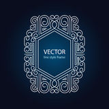 Vector geometric linear style frame. Art deco border for text Royalty Free Stock Image