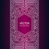 Vector geometric linear style frame Stock Photos