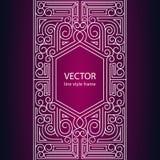 Vector geometric linear style frame Stock Photos