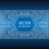 Vector geometric linear style frame - art deco border for text. Sketchbook cover design.  Royalty Free Illustration