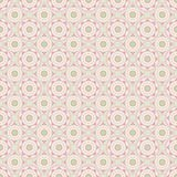 Vector geometric mandala repeat pattern in green and pink royalty free illustration