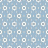 Vector geometric minimal seamless pattern with small stars. Light blue and white. Cute vector ornamental seamless pattern. Simple geometric texture with small stock illustration