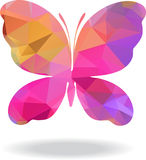 Vector Geometric Mosaic butterfly Royalty Free Stock Image