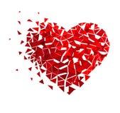 Vector geometric Mosaic Heart. Holiday design template template. Valentine`s Day. Glitter Love confetti.  stock illustration