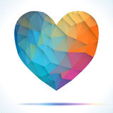 Vector Geometric Mosaic Heart . Template for Stock Photos