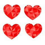 Vector Geometric Mosaic Heart . Template for Valentines Day Design vector illustration