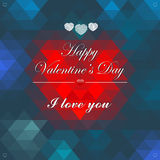 Vector Geometric Mosaic Heart for Valentines Day D Stock Photography