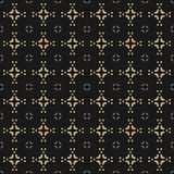 Vector geometric ornament background. Black and gold abstract texture. Vector geometric ornament background. Black and gold abstract seamless pattern in Stock Photo