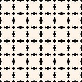 Seamless pattern with circles in square grid. Mesh pattern. Vector geometric ornament pattern with circles in square grid. Simple ornamental seamless texture Royalty Free Stock Photo