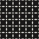Seamless pattern with circles in square grid. Dark vector background. Vector geometric ornament pattern with circles in square grid. Simple seamless texture Royalty Free Stock Photos