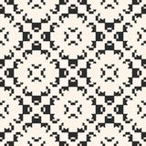 Vector geometric ornament seamless pattern with carved shapes. Geometric ornament texture. Vector monochrome seamless pattern with carved shapes, floral motif Stock Photography