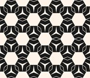 Vector geometric ornament texture with hexagons, triangles, thin lines. Vector geometric texture. Modern seamless pattern with simple shapes, hexagons Stock Image