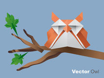 Vector geometric owl Royalty Free Stock Photography