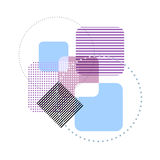 Vector geometric pastel template abstract background Royalty Free Stock Images