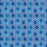 Vector geometric pattern. Abstract background of the blue triangles, hexagons  Seamless texture   Vector geometric pattern with geometric shapes Stock Photography