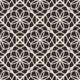 Vector Geometric Pattern. Black seamless texture with arabic geometric ornament. Monochrome vector pattern royalty free illustration