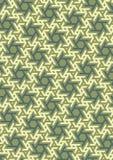 Vector geometric pattern, built on a hexagonal grid. Royalty Free Stock Photo