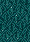 Vector geometric pattern, built on a hexagonal grid. Stock Image