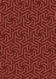 Vector geometric pattern, built on a hexagonal grid. Royalty Free Stock Photos