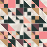 Vector geometric pattern with geometric shapes, rhombus. Stock Images