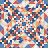 Vector geometric pattern with geometric shapes, rhombus. Royalty Free Stock Photos