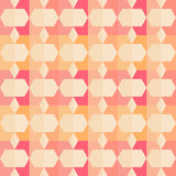 Vector geometric pattern with geometric shapes, rhombus. Royalty Free Stock Images