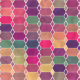Vector geometric pattern with geometric shapes, rhombus. Royalty Free Stock Image