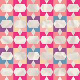 Vector geometric pattern with geometric shapes, rhombus. Stock Image