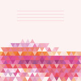 Vector geometric pattern with geometric shapes. Stock Images