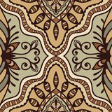 Vector geometric pattern with seamless texture. Tribal ethnic ornament Royalty Free Stock Image